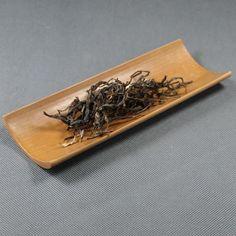 "Bamboo ""Cha He"" Tea Holder Hand Made L18cm * W6.5cm * H1.7cm Chinese Tea Set, Tea Holder, Yixing Teapot, Brewing Tea, Spring Green, Tea Pots, Bamboo, Handmade, Black"