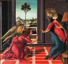 SANDRO BOTTICELLI La anunciación de Cestello (1489) Galería de los Uffizi, Florencia.