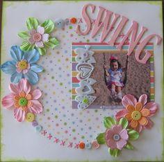 Swing - Scrapbook.com - Melissa Edmondson - Kids Layouts.
