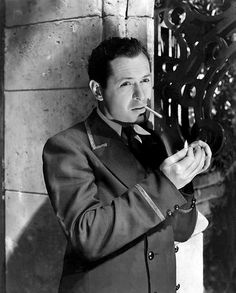Robert Montgomery in Night Must Fall, 1937. A GREAT film, a must see for those who love a murder mystery. The story was based upon a true crime incident.