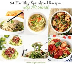 24 Healthy Spiralized Recipes under 300 Calories Tips for Making Healthier Recipes