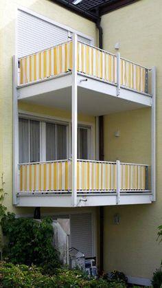 balkon sichtschutz & sonnenschutz mit balkonverkleidung und, Moderne