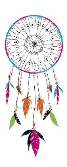 Dreamcatcher From Thaneeya Mcardle S Hipster Coloring Book