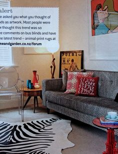 A colourful and fun living room