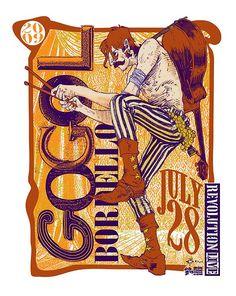 Gogol Bordello poster by PRJCT13, via Flickr