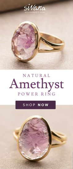 Wear this Natural #Amethyst #Ring to create a protective energy field around your body. Amethyst is believed to assist in transmuting the negative energies within, and in providing protection from external negative energies.