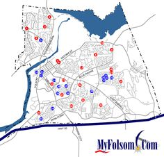 Folsom, California Parks Map