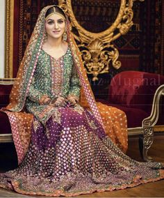 Pakistani Mehndi Dress, Bridal Mehndi Dresses, Asian Wedding Dress, Walima Dress, Pakistani Formal Dresses, Pakistani Wedding Outfits, Bridal Dress Design, Wedding Dresses For Girls, Pakistani Wedding Dresses