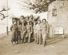 The first Army nurses to cross the Rhine with the 51st Field Hospital.