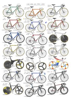 Iconic Road and Track bikes A2 - £55