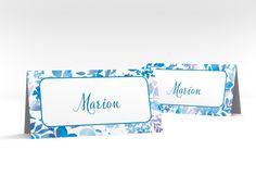 """Tischkarte Hochzeit """"Liana"""" Tischkarten blau"""