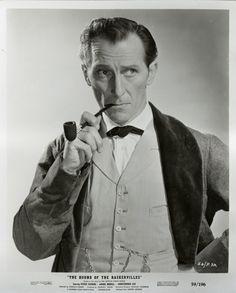 Peter Cushing / Sherlock Holmes admirable job Too bad he didn't get to do more.