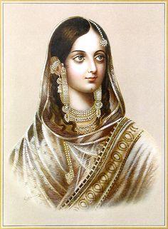 Zeenat Mahal, wife of Bahadur Shah Zafar
