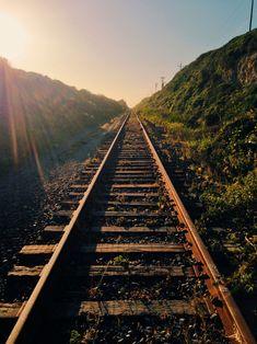 Remains of Southern Pacific Company's Coastal Line Railway Feminine Tomboy, Hearth And Home, Train Tracks, California Usa, Beautiful Moments, Railroad Tracks, Travel Destinations, Coastal, In This Moment