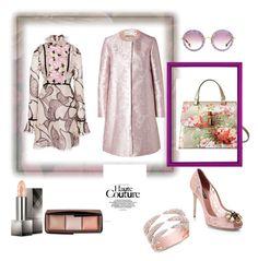"""Haute-couture"" by steffyyeah ❤ liked on Polyvore featuring Mary Katrantzou, Gucci, Miu Miu, Giambattista Valli, Hourglass Cosmetics, Dolce&Gabbana and Burberry"