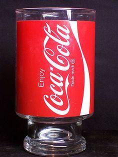 Vintage 1970's Enjoy Coke Coca-Cola Trademark 32 oz. Pedestal Drinking Glass  $5.99