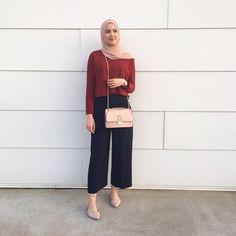 Fashion style hijab casual colour 54 New ideas Hijab Casual, Hijab Chic, Ootd Hijab, Hijab Fashion Casual, Fashion Clothes, Fashion Dresses, Dress Casual, Casual Shoes, Street Hijab Fashion