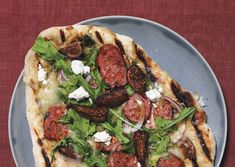 Grilled Pizza (Sausage and Fig with Goat Cheese)