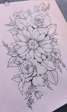 – # Mädchen mit Tätowierungen, - Rebel Without Applause Floral Tattoo Design, Flower Tattoo Designs, Flower Tattoos, Tattoo Floral, Flower Tattoo Drawings, Tattoo Design Drawings, Kunst Tattoos, Body Art Tattoos, Sleeve Tattoos