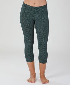 905c013883139e GEOMETRIC Leggings, Teal Cotton Leggings, Yoga Pants, Womens Leggings,  Active Wear Set