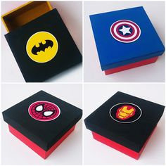Caixa MDF Personalizada Heróis Escudo