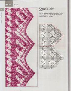"Photo from album ""Elizabeth Lovick - The Magic of Shetland Lace Knitting"" on Yandex. Lace Knitting Stitches, Lace Knitting Patterns, Knitting Books, Knitting Charts, Lace Patterns, Loom Knitting, Hand Knitting, Stitch Patterns, Crochet Minecraft"