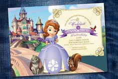 Sophia the First Birthday Party Invitation by DenimGraphics, $10.00