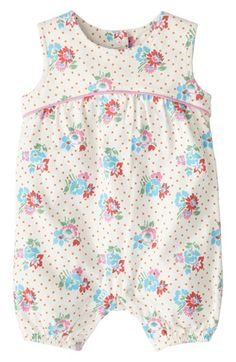 b4d57f79d0d Mini Boden  Pretty Jersey  Bubble Romper (Baby Girls) available at   Nordstrom