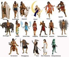 The stories of ancient Philippine mythology include deities, creation stories, mythical creatures, and beliefs. List of gods in Philippine Mythology. Filipino Art, Filipino Tribal, Filipino Culture, Filipino Tattoos, Philippine Mythology, Philippine Art, Mythical Creatures List, Mythological Creatures, Cultura Filipina