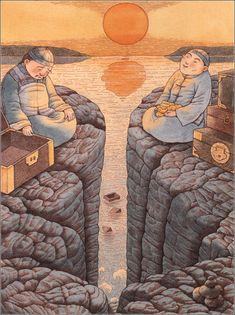 《虎姑婆和其他中国民间故事》(Auntie Tigress and Other Favorite Chinese Folk Tales) illustrated by Eva Wang