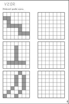 Vzor - překresli vzory. Aktivity pro nácvik matematiky, pozornosti a orientace, čtení a grafomotoriky žáků se specifickými poruchami učení v 1. až 3. ročníku ZŠ