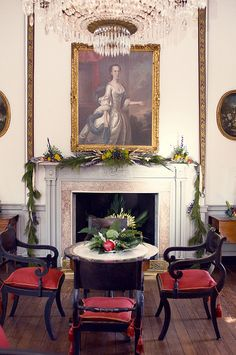 Christmas decorations at the Joseph Manigault House (1803), 2011 season. Charleston, SC. http://www.charlestonmuseum.org/joseph-manigault-house