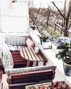 Hello Spring! Our balcony make over is finished Head over to the blog to see the full result
