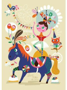 "Helen Dardik: ""Pretty Little Rider"" plakat (50 x 70 cm.)"