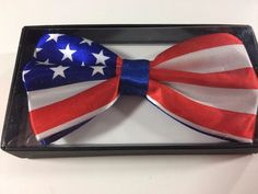 NEW AMERICAN FLAG ADJUSTABLE BOW TIE AMERICAN BOW TIE PATRIOTIC USA  #Generic #BowTie