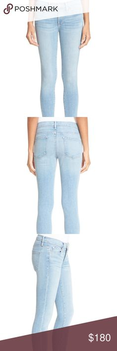 Frame Denim Skinny Jeans 24 brand new  -- Zip fly with button closure - Five-pocket style - 91% cotton, 7% polyester, 2% Lycra(R) spandex - Machine wash cold, tumble dry low Frame Denim Jeans Skinny