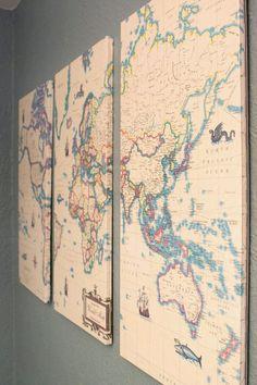 maps framed