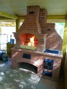 Bbq Area, Home Landscaping, Outdoor Kitchen Design, Gazebo, Brick, Grilling, Backyard, Fire, Architecture