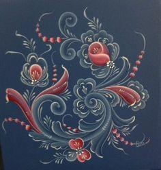 Rosemaling Pattern, Norwegian Rosemaling, Painting Patterns, Painting Styles, Graphic Artwork, Scandinavian Art, Fashion Painting, Arte Popular, Tole Painting