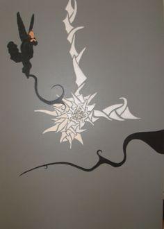 anjo negro  90x70cm  acrílico sobre tela  2005