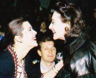 1987 mit Ines de la Fressange