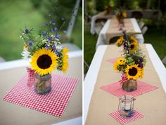 SMALL SQUARE OF FABRIC CAN BE CHANGED OFTEN TO ADD INTEREST AND COLOR  featured farm wedding | KRISTIN + BRUCE