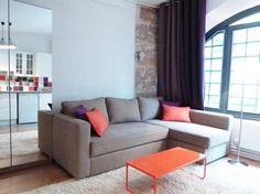 Studio à Paris / Studio appartement in Paris :  http://www.maison-deco.com/conseils-pratiques/amenagement/Nouveau-look-pour-cet-appartement