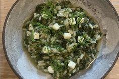 ilidaki-spanakorizo Fresh Dill, Fresh Herbs, Spanakorizo Recipe, Bon Ap, Complete Recipe, Vegetable Stock, Greek Recipes, Green Beans, Gourmet