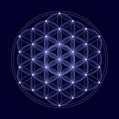 Flower Of Life Tattoo, Flower Of Life Symbol, Life Flower, Sacred Geometry Patterns, Sacred Geometry Tattoo, How To Draw Sacred Geometry, Spiritual Symbols, Alchemy Symbols, Magic Symbols