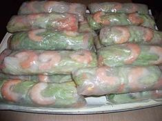 Summer Rolls, Spring Rolls, Healthy Dinner Recipes, Cooking Recipes, Egg Rolls, Fresh Rolls, Starters, Asparagus, Entrees