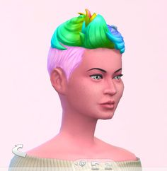 Stars sugary pixels: Blow dryed hairstyle for Sims 4