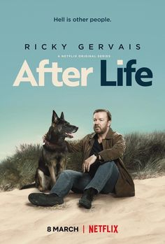 After Life Poster Ricky Gervais Netflix Comedy TV Series Art Print Michelle Monaghan, Michelle Dockery, Ricky Gervais, Netflix Movies, Shows On Netflix, Movie Tv, 2020 Movies, Watch Netflix, Jennifer Saunders