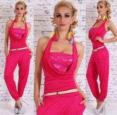 0ca2ad2cbd Pink csipkés overál / overall övvel - Női ruha webáruház, női ruhák online  - HG Fashion