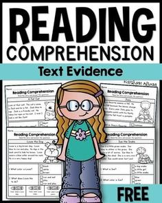 FREE Reading Comprehension passages - text evidence/ 1ST GRADE